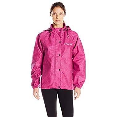 Frogg Toggs All Purpose Women's Rain and Wind Suits, Cherry/Black, Large