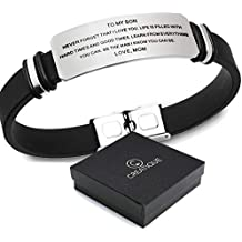 creatique Inspirational Bracelets Engraved, Personalized Gifts to My Son, to My Daughter Husband Wife Bracelet