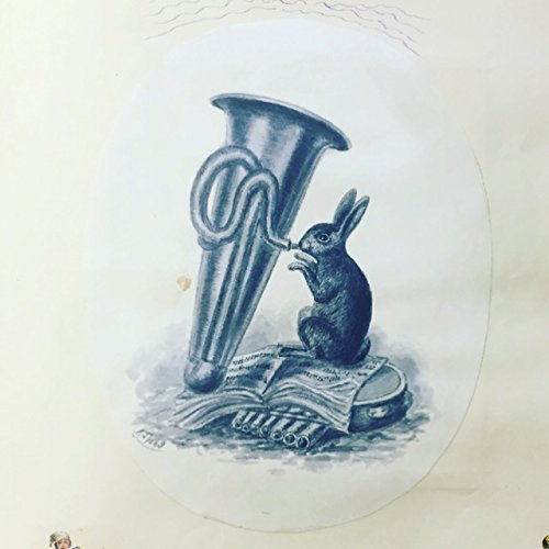 ([Tuba] [Tatham, George?]: Rabbit Playing the Tuba - Original Painting)
