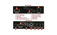 AllAboutAdapters Analog RGB HDMI To HDMI Video Audio Converter Scaler