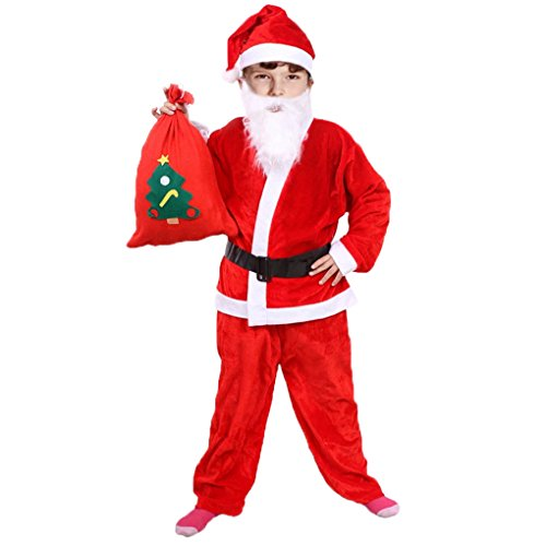 Child Santa Claus Costumes (Children's Santa Claus Plush Costume (Size 6-9 years old))
