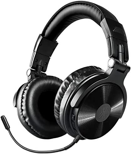 Bluetooth Over Ear Headphones, OneOdio Wireless Wired 30 Hrs Stereo Bluetooth Headsets w Extended Mic, Foldable Headset with Deep Bass, 50mm Neodymium Drivers for PC Phone – Studio Wireless Y80B