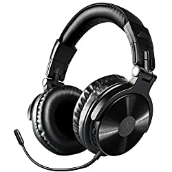 Bluetooth Over Ear Headphones, OneOdio Wireless/Wired 30 Hrs Stereo Bluetooth Headsets w/Extended Mic, Foldable Headset with Deep Bass, 50mm Neodymium Drivers for PC/Phone - Studio Wireless(Y80B)
