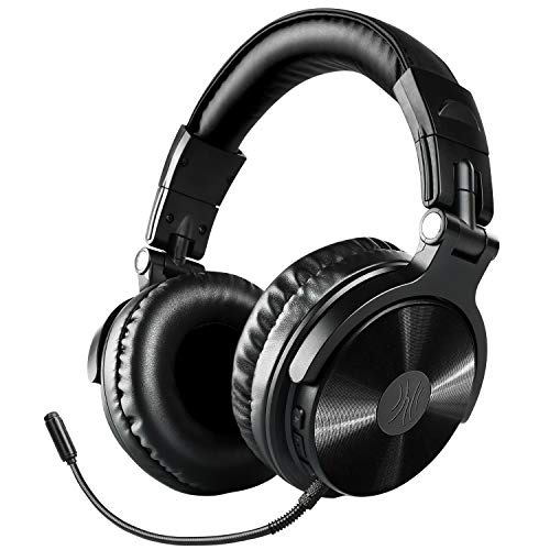 Bluetooth Over Ear Headphones, OneOdio Wireless/Wired 30 Hrs Stereo Bluetooth Headsets w/Extended Mic, Foldable Headset with Deep Bass, 50mm Neodymium Drivers for PC/Phone - Studio Wireless(Y80B) (Best Mid Range Gaming Pc 2019)