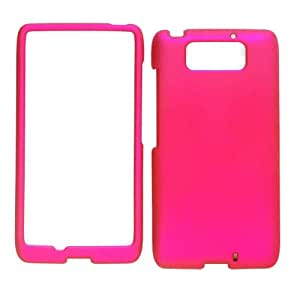 Cell Armor Snap-On Case for Motorola Droid Maxx - Retail Packaging - Rubberized Honey Hot Pink
