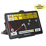 Aonerex - Navegación GPS para Coche con visualización táctil de 7 Pulgadas y Sistema de navegación GPS con Aviso de Voz de 8 GB, mapas de por Vida Integrados, Alarma de conducción/dirección de Voz