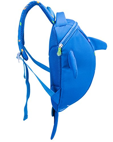 Good Night Little Kids Netter Delphin Rucksack mit großer Kapazität hellblau chD52h