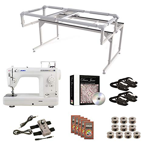 Juki TL2000Qi Grace Q-Zone Hoop Frame with Speed Control Machine Quilting Combo -