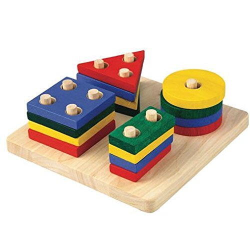 Plan Toy Geometric Sorting Board (Plan Toys Shape)