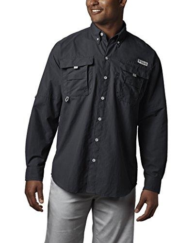 Columbia Mens Bahama II Long Sleeve Shirt (Small, Black)