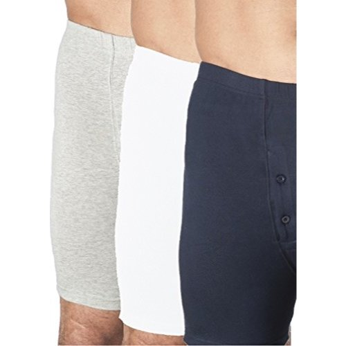 3-Pack Men's Navy Regular Absorbency Washable reusable Incontinence Boxer Briefs XL (Waist 42-44)