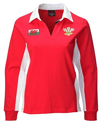 Welsh Superstore Rugby Shirts - Camiseta de manga larga - para mujer rojo rosso