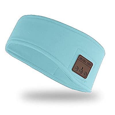 Onedayshop Unisex Music Headband Bluetooth Headset Sleep Headphone Ear Warmers Stereo Speakers Mic Fitness for Exercise Outdoor Sports by Onedayshop