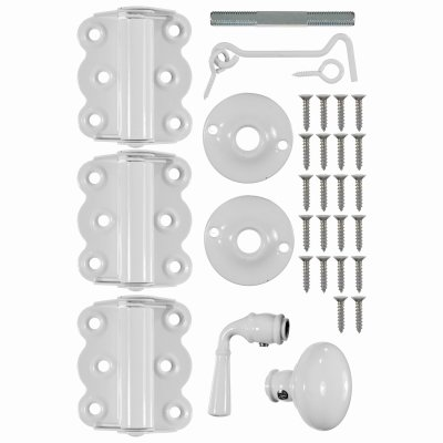 Wright Products V321WH Vinyl/Wood Screen Door KIT, White