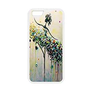 Qxhu Abstract painting Hard Plastic Cover Case for Iphone6 Plus 5.5""