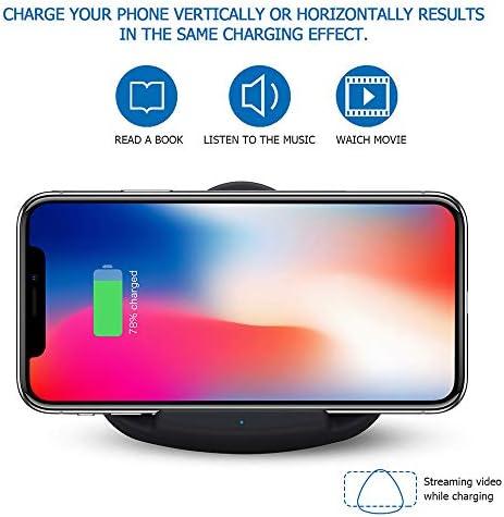 高速ワイヤレス充電ステーション、2パック10Wチー認定ワイヤレス充電スタンド、互換性のあるiPhone 11/11プロ/ 11プロマ/のX MAX/XR/XS/X / 8 /ギャラクシーノート10 /注10プラス/ S10 / S10プラス