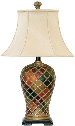 Dimond Lighting 91-152 18 by 30-Inch Joseph 1-Light Traditional Table Lamp, Bellevue Finish from Dimond Lighting