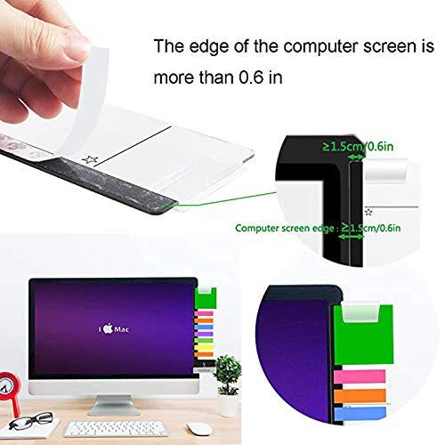 Klebezettelhalter Left and Right Monitor Memoboard f/ür Computer 2 pack