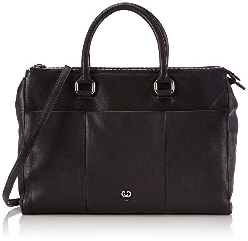 Gerry Weber Piacenza Business Shopper - Bolsa de la Compra de Cuero Mujer Negro - Negro (Black 900)