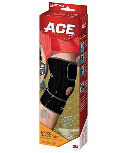 ACE Brand Knee Brace with Dual Side Stabilizers, America's Most Trusted Brand of Braces and Supports, Money Back Satisfaction Guarantee - Ace Brace