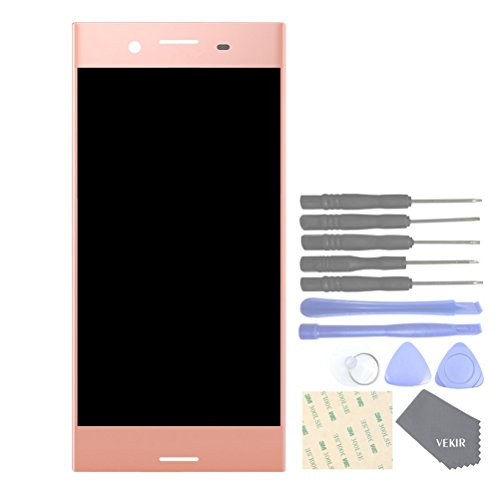 (VEKIR Cell Phones Replacement Parts for Sony Xperia XZ Premium G8141 G8142 Display Touch Digitizer Screen Assembly(Pink)[No Screen Frame])