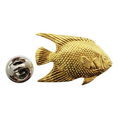 - Angelfish Pin ~ 24K Gold ~ Lapel Pin ~ Sarah's Treats & Treasures