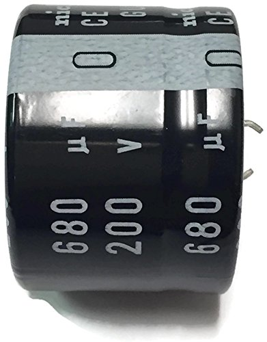 Snap In Capacitor (Set of 1, 105°C SNAP IN Electrolytic Capacitor 680uF 200V (680 mfd 200V) 20% Radial, 1 3/8