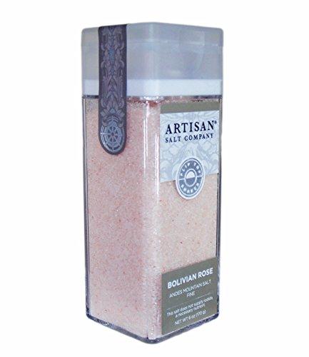 Bolivian Rose Andes Mountain Salt - Fine Grain - Artisan Salt Shaker Jar - 6 (Bolivian Rose)