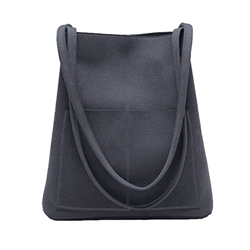 Suede Leather Tote Bag - Bucket Bag Suede Leather Womens Handbags Purse Tote Hobo Shoulder Bags