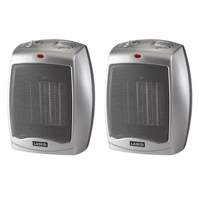 Lasko Ceramic heater 2-Pack with Adjustable Thermostat 75420