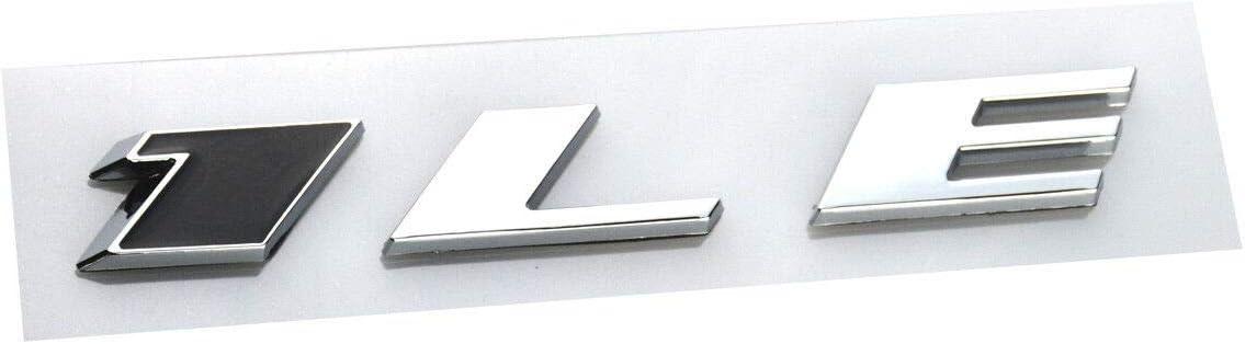 2X 1LE Emblem Letter Badge Rear Side 3D Sticker for Camaro Door Genuine Black//Chrome