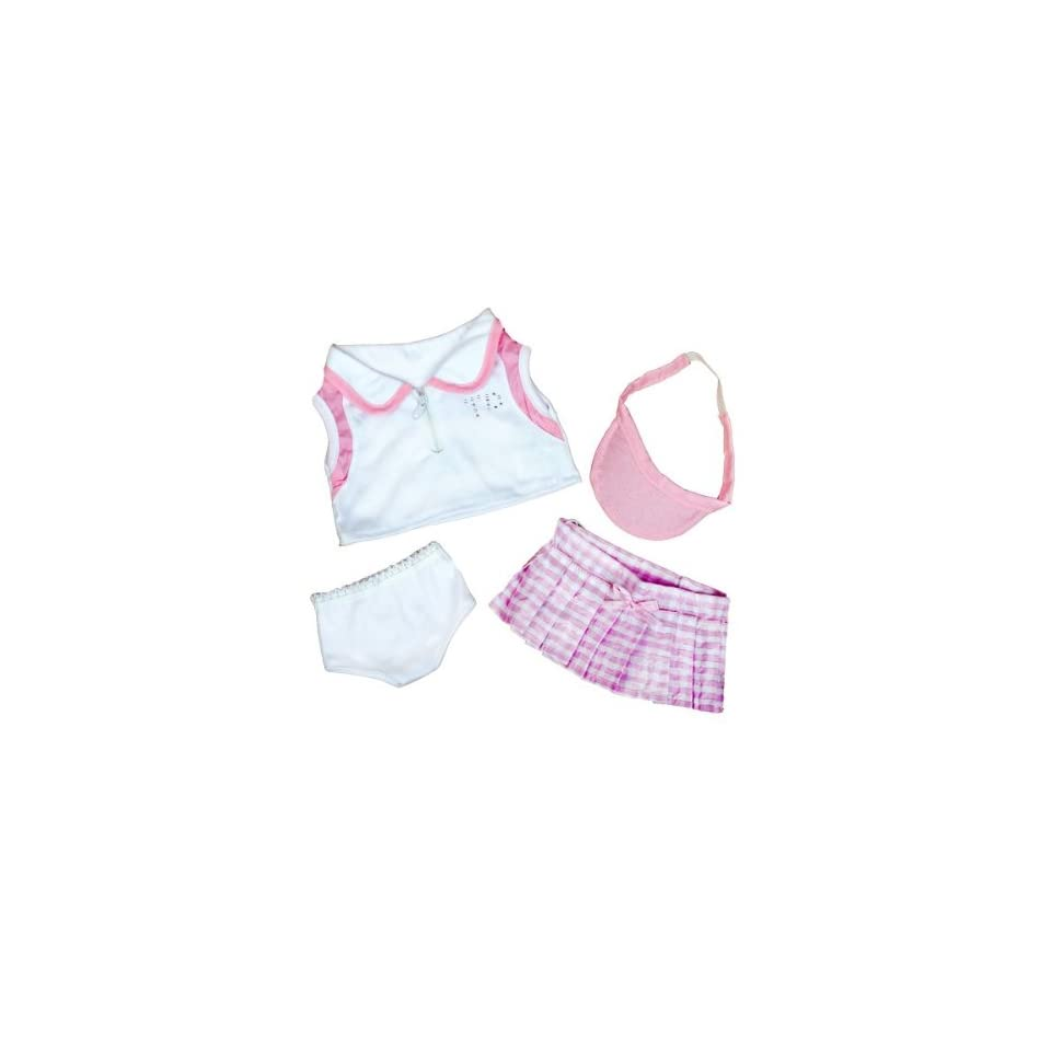 """Tennis Girl Teddy Bear Clothes Outfit Fits Most 14""""   18"""" Build a bear, Vermont Teddy Bears, and Make Your Own Stuffed Animals Toys & Games"""