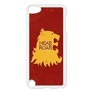 Juego de Tronos Hear Me funda de plástico Rugido Lannister1 iPod Touch 5 caso funda blanca funda caja del teléfono celular de cubierta ALILIZHIA07053