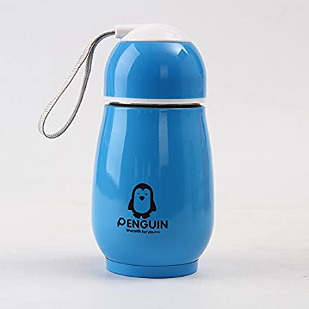 LanLan Portable 300ml Stainless Steel Vacuum Flasks Kids Cartoon Penguin Thermal Insulation Water Bottle Children Travel