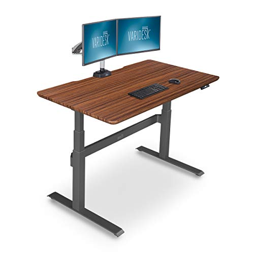 VARIDESK - Full Electric Desk - PRODESK 60 Electric Darkwood- 3-Button Memory Settings