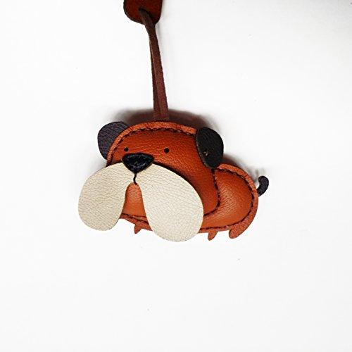 3XU Bag Charm - Leather Charm - Bag Accessories - Keyring - Bulldog Key Chain