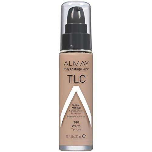 Almay Truly Lasting Color Foundation Makeup, Warm, 1 fl. oz., SPF 15 Broad Spectrum