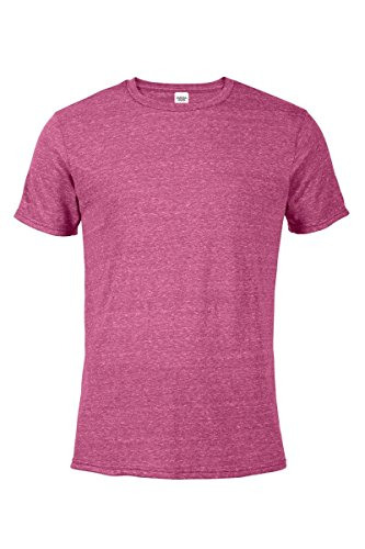 - Casual Garb Men's Snow Heather Fitted T Shirt Short Sleeve Crew Neck T-Shirts for Men Berry Large