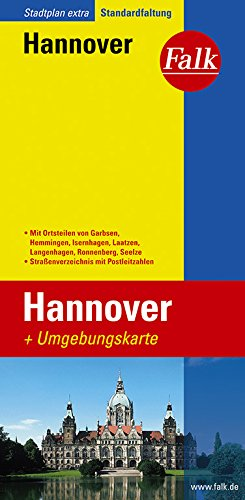 Falk Stadtplan Extra Standardfaltung Hannover Landkarte – Folded Map, 25. August 2016 OSTFILDERN 3827923638 Deutschland Karten