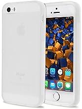 mumbi Funda compatible con iPhone SE / 5S / 5 Caja del teléfono móvil, blanco transparente
