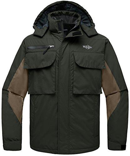 - Wantdo Men's Windproof Raincoat Skiing Jacket Short Parka Outdoors Army Green S