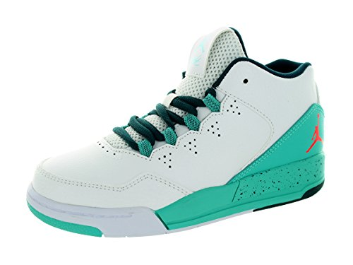 Nike Jordan Kids Jordan Flight Origin 2 BP White/Infrared 23/Retro/Teal Basketball Shoe 3 Kids US