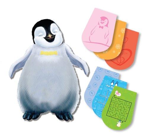 Jakks Pacific Flying Colors Happy Feet Plush Dry Erase Notebook