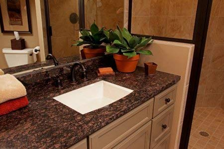 Instant Granite Chestnut Counter Top Film 36'' x 144'' Self Adhesive Vinyl Laminate Counter Top Contact Paper Faux Peel and Stick Self Application by Instant Granite (Image #4)