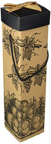 EndlessArtUS Montrachet Barrels Wine Gift Box, EZ Wine Caddy, Set of 4 by EndlessArtUS