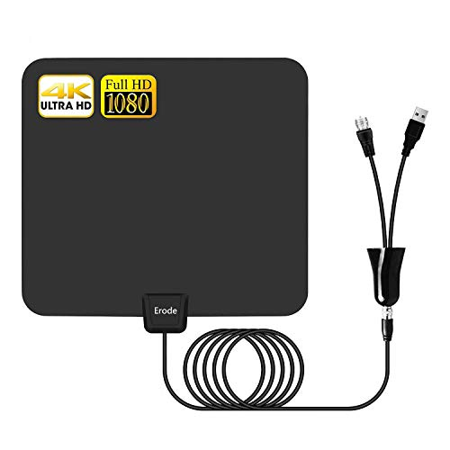 Digital TV Antenna - Amplified HDTV Antenna 75+ Miles Range with 2019 Newest Powerful Amplifier Signal Booster, Support 4K 1080P for All Old TVs w/ 13.2ft Coaxial - Indoor Tv Antenna Hdtv