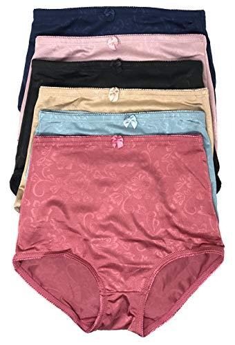 - Peachy Panty Women's 6 Pack High Waist Cool Feel Brief Underwear Panties S-5xl (Silky Flower, Medium)