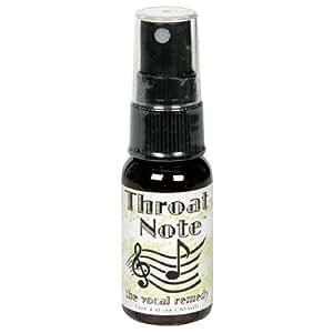 Throat Note Herbal Throat Spray, 1-Ounce Bottles (Pack of 2)