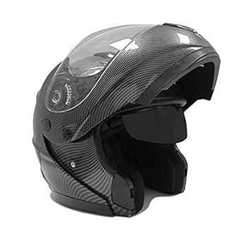 Motocicleta Modular Full Face casco abatible de doble visera Dot calle legal – de fibra de