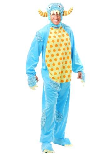 (Charades Men's Adult Mini Monster Costume, Blue,)